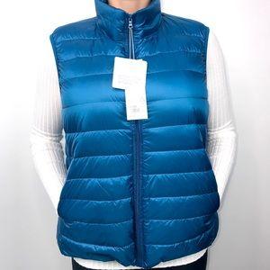 Jackets & Blazers - NWT Womens XXXL Blue Lightweight Down Zip Up Vest